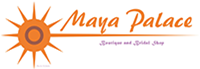 Maya Palace logo text gold
