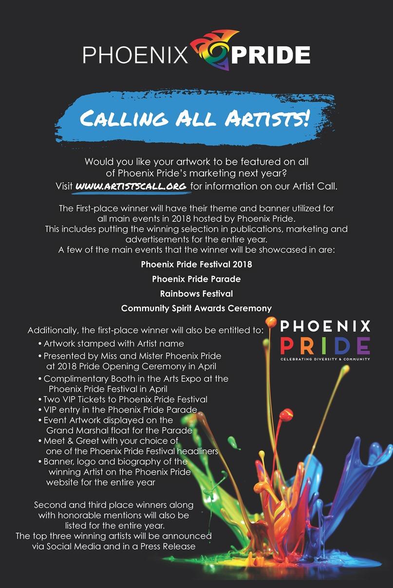 Phx Pride Calling All Artist PSTR